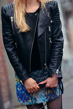 perfecto H&M - sac Zadig&Voltaire - jupe Pull&Bear