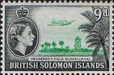 Postage Stamps Solomon Island 1956 SG 90a Henderson Airfield Fine Mint SG 90a Scott 98 For Sale A Beautiful Stamp Take a look!