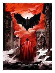 Batman v Superman by Creator mobokeh