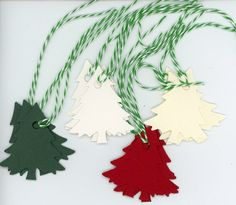 Cool #Go4USA Product… Christmas tree gift tags - set of 12 at Plymouth Card Company