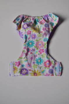 Cloth Doll Diaper in Spring Floral by littleashleighs on Etsy, $3.00
