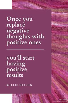 Once you replace negative thoughts with positive ones, you'll start having positive results. Negative Thoughts, Positive Thoughts, One Life Quotes, Think Positive Quotes, Willie Nelson, Positivity, Positive Words, Think Positive, Positive Quotes
