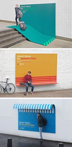 Des panneaux publicitaires créatifs - IBM