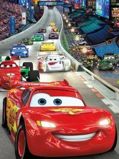 Fotobehang Komar - Disney Cars Race - FotobehangFactory.nl