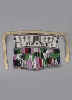 Africa | Apron made by the Zigula, Zegubra or Bisa people of Mamboya or Usagara, Tanzania | Cotton waistband, glass beads and natural fiber | ca. 1926 or earlier African Beads, African Jewelry, Bead Jewellery, Tribal Jewelry, Textiles, African Masks, African Design, Tribal Art, Bead Art
