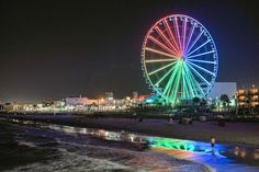 Myrtle Beach Boardwalk, Sky Wheel at Night