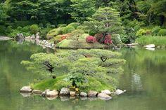 島、縮景園、広島 Islands, Shukkeien Garden, Hiroshima