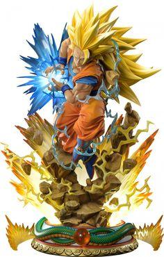 Mega Premium Masterline Dragon Ball Z Super Saiyan Son Goku Deluxe Version By Prime 1 Studio Action Toys, Action Figures, Dbz Super Saiyan, Naruto Images, O Pokemon, Anime Figurines, Dragon Ball Gt, Son Goku, Toys Photography