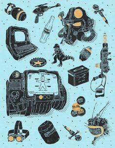 Artifacts: Fallout Art Print