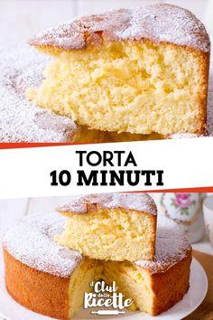10 Minute Cake Recipe - The Recipe Club- Ricetta Torta 10 Minuti – Il Club delle Ricette A quick and easy cake ready in 10 minutes: in little … - Italian Cake, Food Club, New Cake, Happy Foods, Almond Cakes, Quick Easy Meals, Fun Desserts, Italian Recipes, Cake Recipes