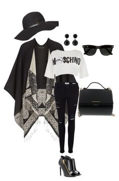 """""""Ripped Jeans"""" by southindianmakeup1990 ❤ liked on Polyvore featuring Dorothy Perkins, Frame Denim, Moschino, Tom Ford, Givenchy, Ray-Ban, women's clothing, women's fashion, women and female"""