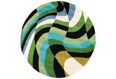 Circular shaped carpet by Carpet Diem, Portugal, 100% wool. Designers Carmo Amaro Mexia and Nuno Benito #Voilá!