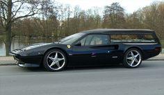 Ferrari Hearse -- For luxury funerals.