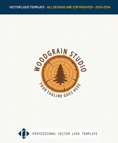 Wood Logo Design On Company Grai