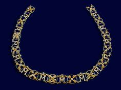 Necklace belonging to Michelle de Valois, wife of Philippe the Good  Silver with gold inlay, enamel  15th century  Old Arsenal Museum, Solothurn
