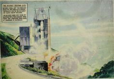 Isle of Wight - ein unauthorisierter Raketenstart in England