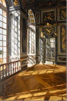 ◇ Artful Interiors ◇ paintings of beautiful rooms - Jan De Vliegher