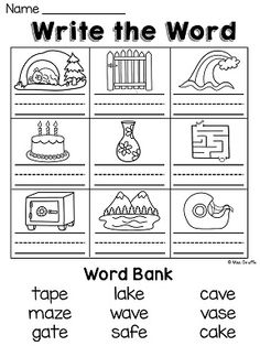 Vowels short or long e sound words phonics worksheets pinterest long a worksheets and activities with silent e no prep ibookread PDF