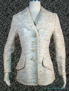 """EARLY 60's Vintage LILLI ANN """"Tone on Tone, GIMP TRIM Beige Fitted Jacket, S @ THE HULA HUT & MORE STORE.    http://www.ebay.com/itm/EARLY-60s-Vintage-LILLI-ANN-Tone-Tone-GIMP-TRIM-Beige-Fitted-Jacket-S-/321027671645?pt=Vintage_Women_s_Clothing=item4abebd865d"""