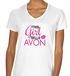 This Girl Sells Avon V-Neck
