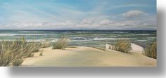 """""""Texel Dunes"""", Acrylic painting 140x60 cm. A work for a customer"""