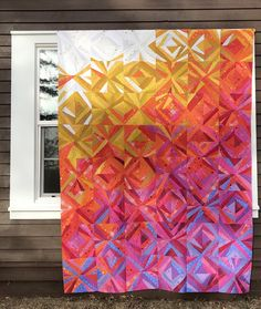 Lake Superior Sunrise quilt pattern by Wild Onion Studio Paper Pieced Quilt Patterns, Modern Quilt Patterns, Modern Quilting, Pattern Paper, 3d Quilts, Easy Quilts, Quilt Studio, Lake Superior, String Quilts