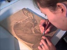 Lino Demo #2 - how to magically remove the paper from your lino block, by Julia Forsyth - YouTube