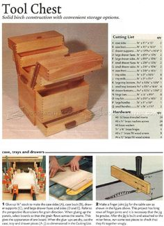 #4 Tool Chest Plans - Workshop Solutions