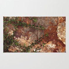 Rocks and Leaves - Floor Rug - Floor Mat - Room Rug - Rustic Rug - Bathhroom Decor - Throw Rug - Made to Order (56.00 USD) by ShelleysCrochetOle