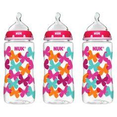 NUK® TRENDLINE™ Medium Flow 10 oz Orthodontic Bottles - Tie Dye (3 Pack)