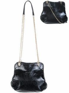 Lancaster - Sac � main Epaule Cuir Croco. Fashion, Shoulder Bags, Purse, Travel Bags, Baggage, Suitcase, Moda, Fashion Styles