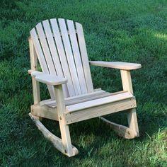 Creekvine Designs Cedar Adirondack Rocking Chair WRFKE - AdirondackChairOutlet.com