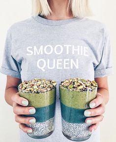 Quand une #smoothiequeen nous donne l'eau à la bouche dès le matin ! 🤗 📷 @alison__wu  #smoothie #breakfast #morning #hello #chia #green #healthyfood #healthylife #madamehealthy #spiruline