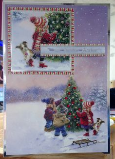 Christmas Card (18) - A5 - makings from Hunkydory 'Snowy Season'