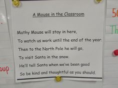 A Christmas poem about Mathy Mouse