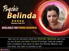 Find the right path in life with the help of talented #clairvoyant and #cartomancer #Psychic Belinda. Let her accurate readings guide you!
