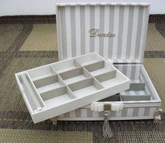 Lembrança madrinhas (porta jóias) - Tudo em Caixas - Caixas em MDF e Tecido (67)3201-7767: caixa bijus