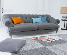 Our Bagsie sofa is a firm favourite. With its laid-back comfort and weathered oak legs, it's a wicked take on a classic chesterfield.