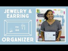 Jewelry Earring Organizer: Easy Craft Project with Vanessa of Crafty Gemini Creates - YouTube