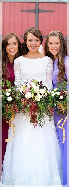 Jessa, Jinger, and Jill Duggar Jinger Duggar Wedding, Amy Duggar, Duggar Sisters, Duggar Girls, Dugger Family, Derick Dillard, Bates Family, 19 Kids And Counting, Thing 1