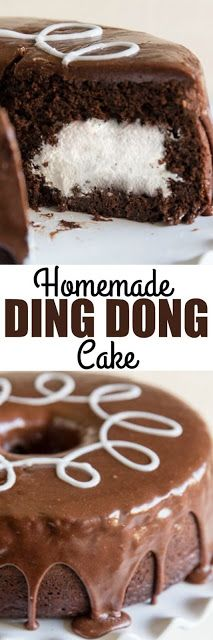 Homemade Ding Dong Cake - Food And Cake Recipes