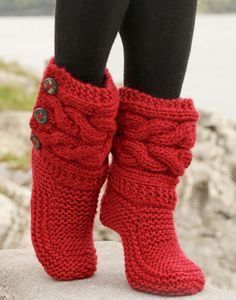 FavoriteIndoor Knitted Slippers, Knitted Boots, Women's Slippers, Christmas Slippers, Gestrickte Hausschuhe is part of Knitting and Crochet Slippers - Thethriftywolf Thank you for stopping by and supporting my work! Crochet Slipper Boots, Knit Boots, Knitted Slippers, Crochet Shoes, Knit Crochet, Crochet Gifts, Red Slippers, Free Crochet, Crochet Cape