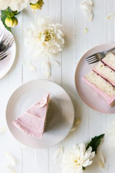 Lemon Poppy Seed Raspberry Layer Cake with French Buttercream. Layers of lemon poppyseed cake filled raspberry jam and frosted in pink buttercream. Best Cake Recipes, Sweet Recipes, Dessert Recipes, Cupcakes, Cupcake Cakes, Shoe Cakes, Raspberry Cake, Raspberry Popsicles, Raspberry Cobbler