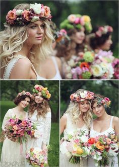 New Ideas For Wedding Boho Chic Dress Floral Crowns Chic Wedding, Trendy Wedding, Wedding Styles, Dream Wedding, Wedding Themes, Wedding Ideas, Garden Wedding, Party Themes, Wedding Photos
