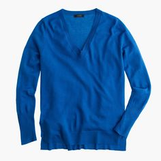 LOVE this color. Merino wool V-neck tunic sweater : Pullovers | J.Crew