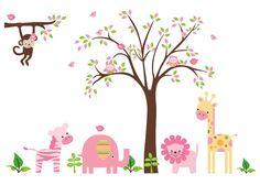 jungle_room_stickers_bebe_diva_jungle_wall_decals_kids_wall_decal_stickers_nursery1.jpg (1500×1073)