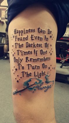 Harry Potter tattoo #watercolor #hp #always #tattoo
