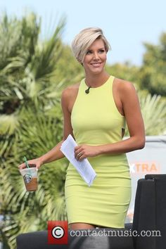 Charissa Thompson - Candis Cayne  appears on \'Extra\' at Universal Studios - Los Angeles, California, United States - Monday...
