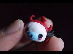 Mamegoma in a Devil Costume polymer clay tutorial