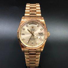 Rolex Daydate President 118238 Champange Diamond WA : 628121067189  : 021-7209021 https://mulialegacy.com